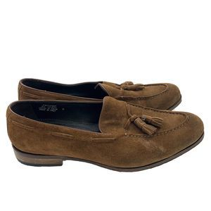 SuitSupply Brown Suede Tassel Loafers Italy Men 11